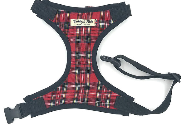 Red Tartan Fabric Harness