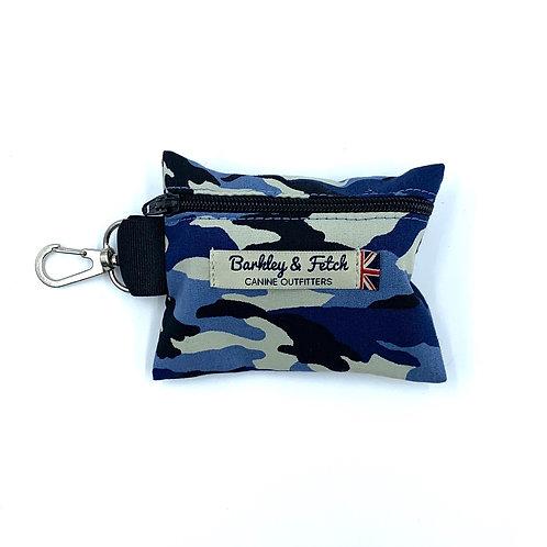 Blue Camo Poo Bag Holder