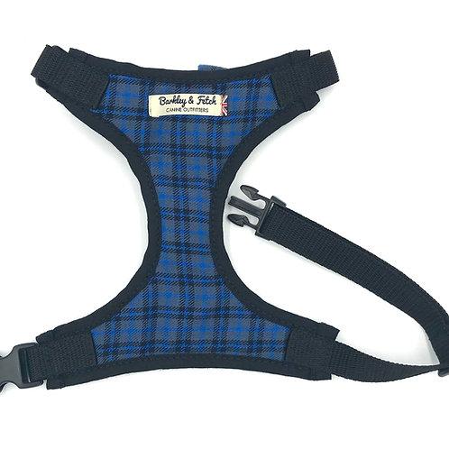 Dk Blue Tartan Fabric Harness