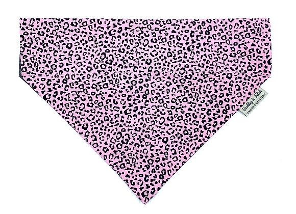 Pink Leopard Print Dog Bandana