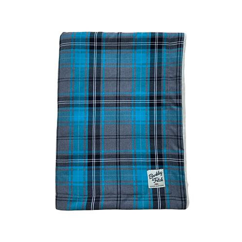 Turquoise Tartan Dog Blanket