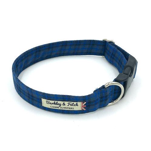 Dk Blue Tartan Dog Collar