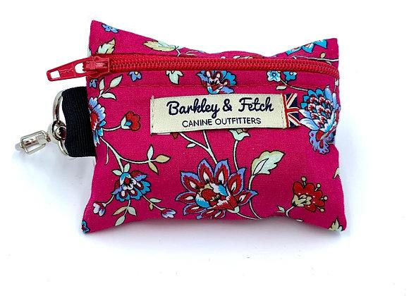 Hot Pink Flower Print Poo Bag Holder