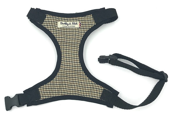Brown Dogtooth Fabric Harness