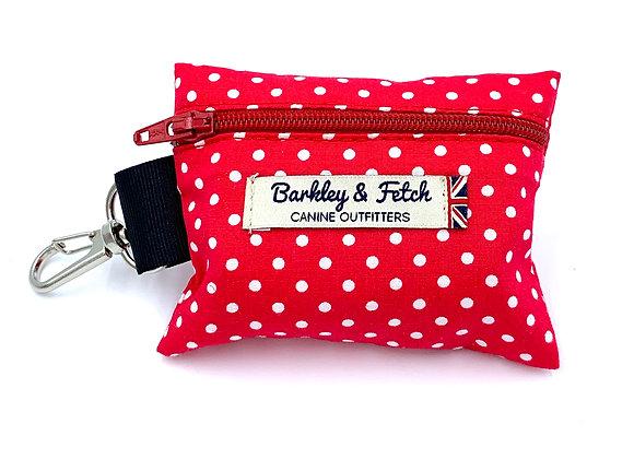 Red Spot Print Poo Bag Holder