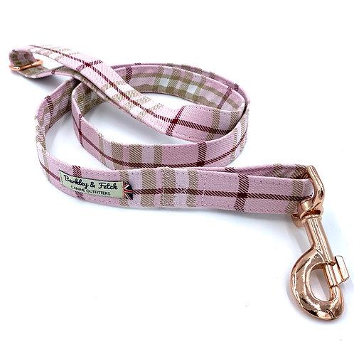 Pale Pink Tartan Dog Lead