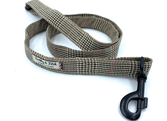 Brown Dogtooth Dog Lead