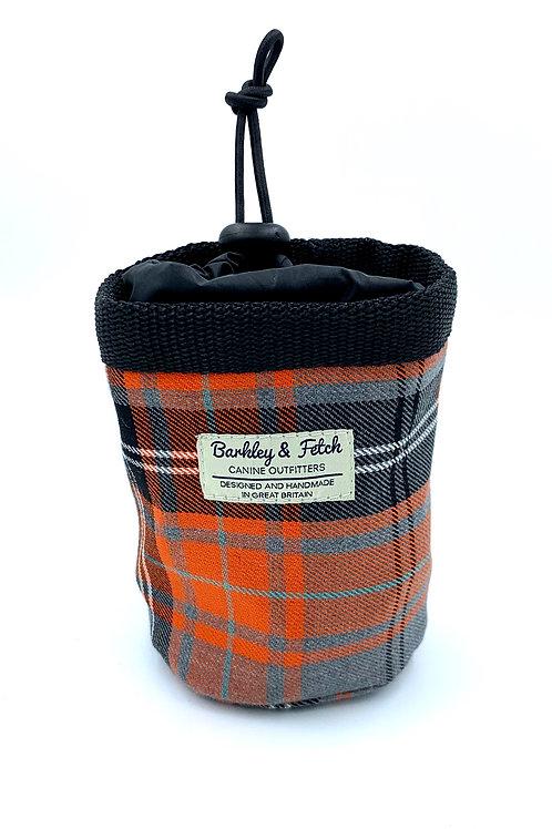Orange and Grey Tartan Treat Bag