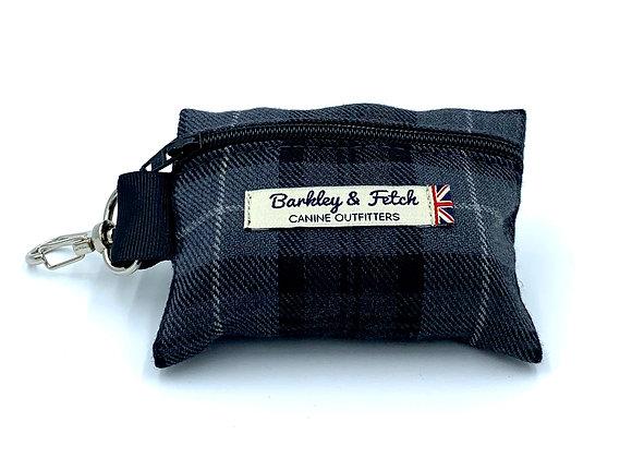 Grey Tartan Poo Bag Holder