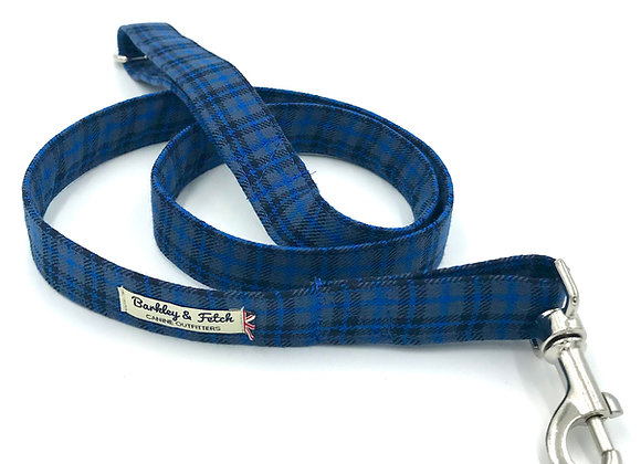 Dk Blue Tartan Dog Lead