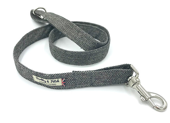 Grey Herringbone Dog Lead