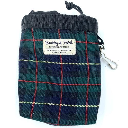 Green/Navy Tartan Treat Bag
