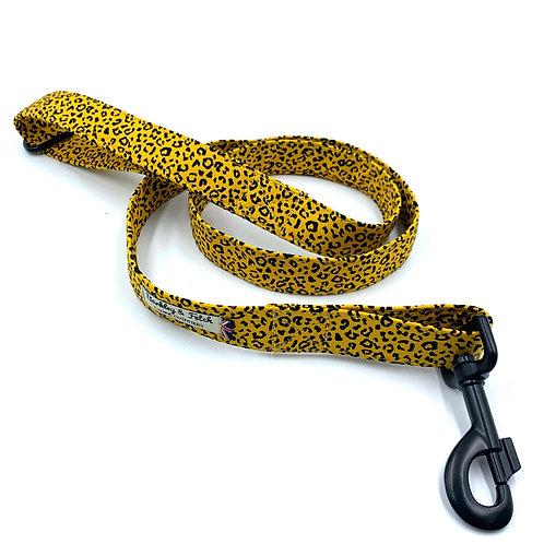 Ochre Leopard Print Dog Lead