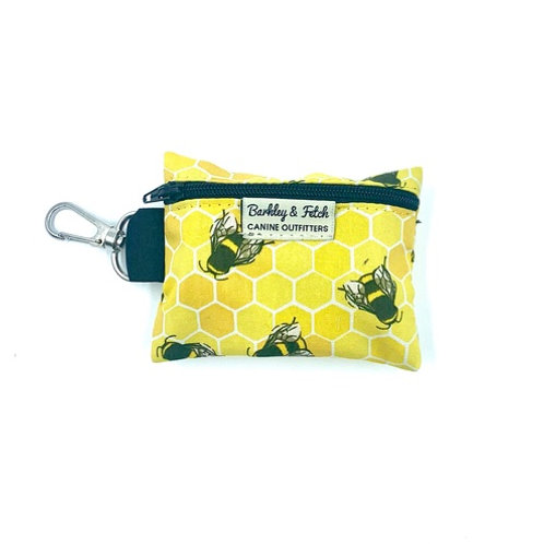 Bee Print Poo Bag Holder