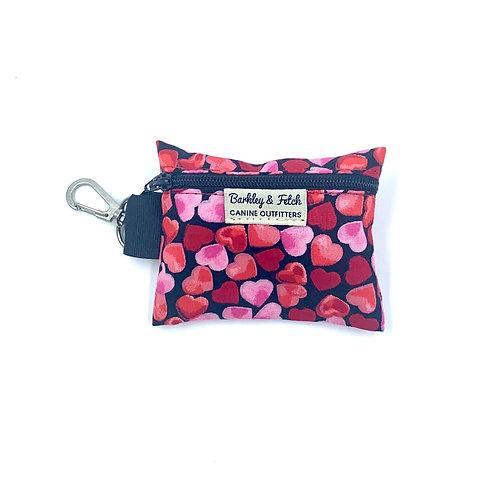 Love Hearts Print Poo Bag Holder