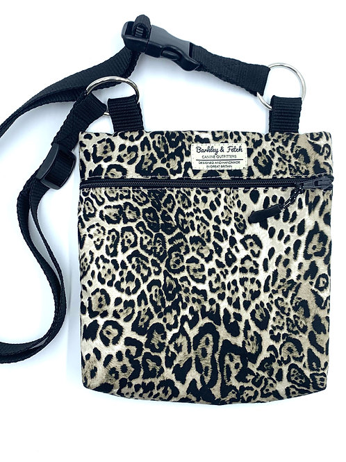 Lynx Print Dog Walk and Treat Bag