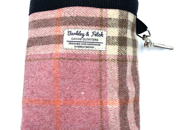 Pink Woolmix Check Treat Bag