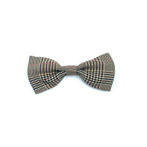 Brown Dogtooth Dog Bowtie
