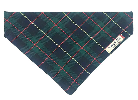 Green/Navy Tartan Dog Bandana