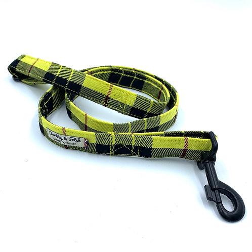 Yellow Tartan Dog Lead