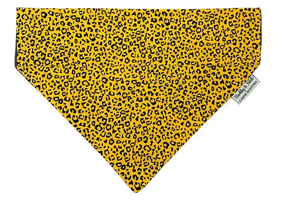 Ochre Leopard Print Dog Bandana