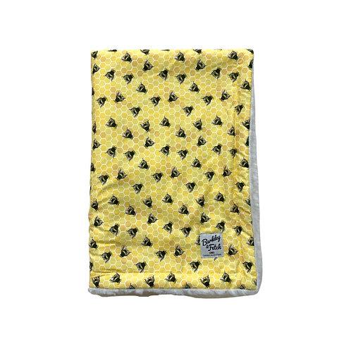 Bee Print Dog Blanket