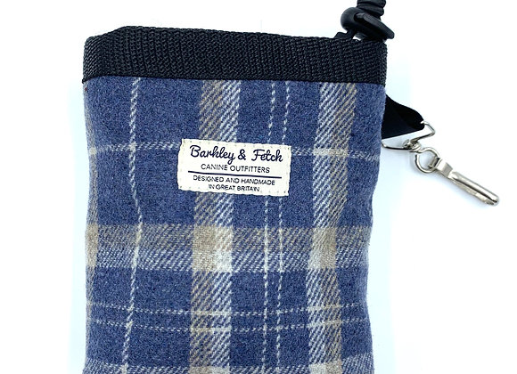 Blue Woolmix Check Treat Bag
