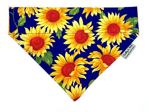 Sunflower Print Dog Bandana