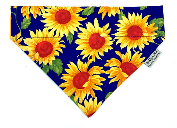 Sunflower Print Dog Bandana