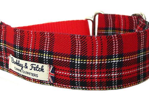 Red Tartan Martingale Collar