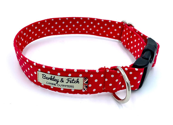 Red Spot Print Dog Collar