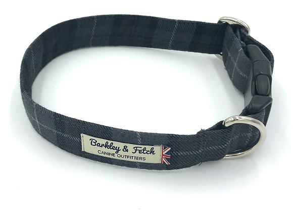 Grey Tartan Dog Collar