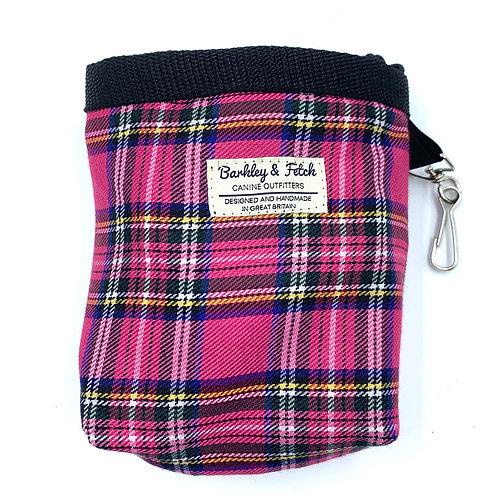 Bright Pink Tartan Treat Bag