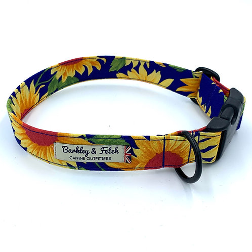 Sunflower Print Dog Collar