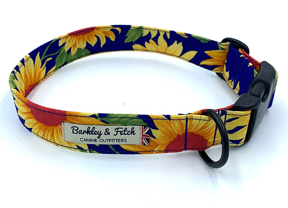 Sunflower Print Dog Collar