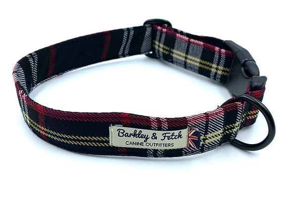Navy/Black Tartan Dog Collar