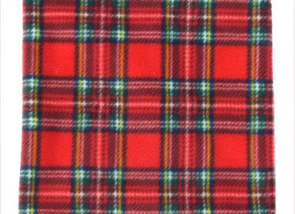 Red Tartan Fleece Dog Snood