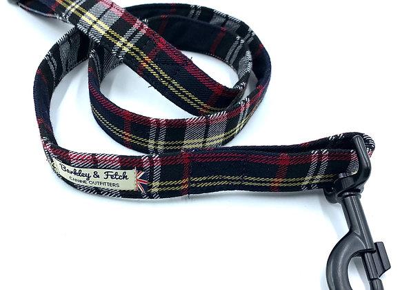 Navy/Black Tartan  Dog Lead