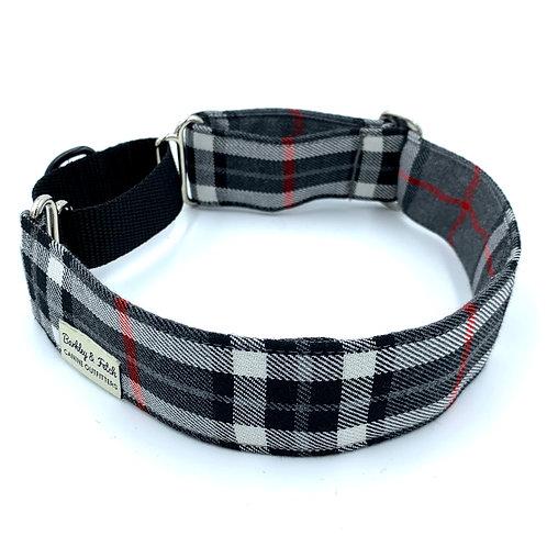 Grey/White Tartan Martingale Collar