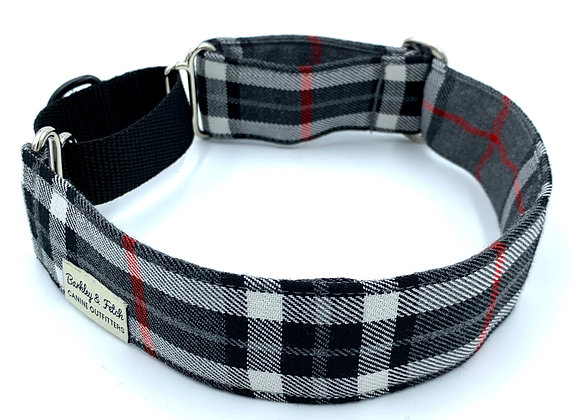 Grey/White Tartan Martingale Collar