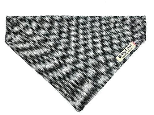 Grey Herringbone Dog Bandana