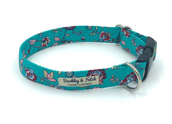 Jade Flower Print Dog Collar