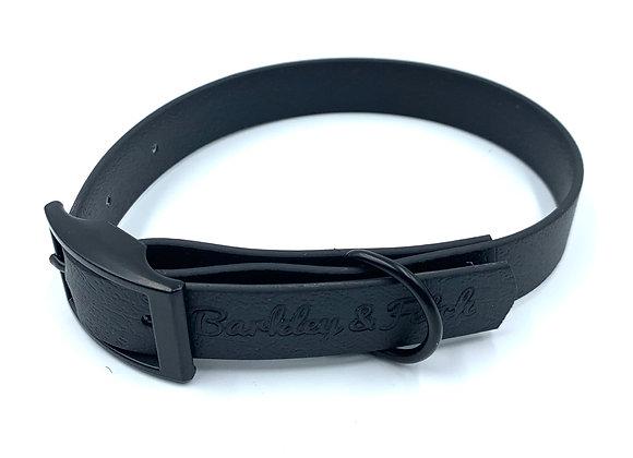 Black Waterproof Webbing Dog Collar