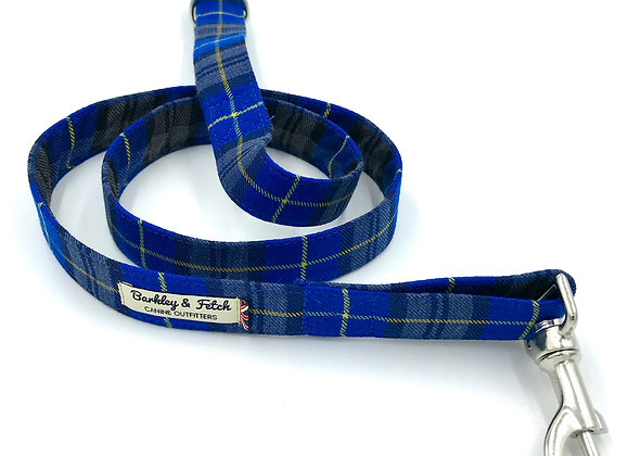 Royal Blue Tartan Dog Lead