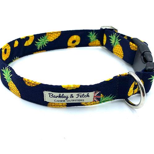 Pineapple Print Dog Collar