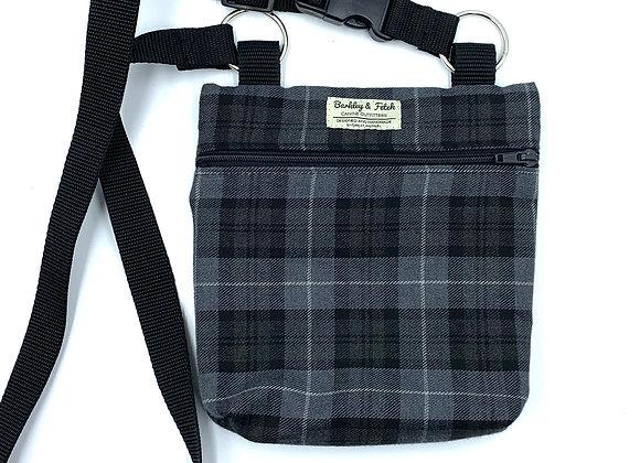 Grey Tartan Dog Walk and Treat Bag