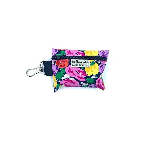 Bright  Floral Print Poo Bag Holder