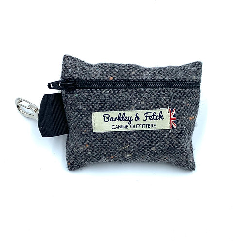 Grey Fleck Wool Poo Bag Holder