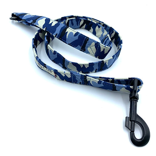 Blue Camo Dog Lead