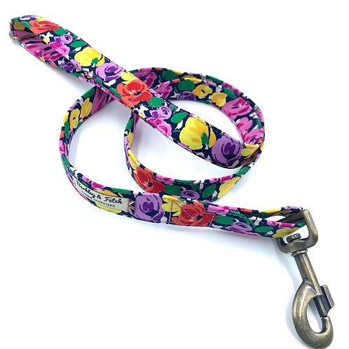 Bright Floral Print Dog Lead
